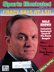 "Dale Brown Autographed Sports Illustrated Magazine LSU Tigers ""To Stan"" Beckett BAS #B63440"