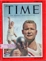Parry O'Brien Autographed Time Magazine Olympics Beckett BAS #B63479