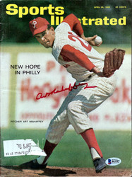 Art Mahaffey Autographed Sports Illustrated Magazine Philadelphia Phillies Beckett BAS #B63507