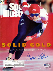 Bonnie Blair Autographed Sports Illustrated Magazine Beckett BAS #B63845