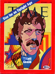 Elliott Gould Autographed Sports Illustrated Magazine Beckett BAS #B63885