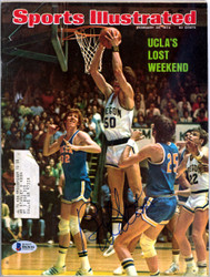 Bill Walton Autographed Sports Illustrated Magazine UCLA Bruins Beckett BAS #B63616