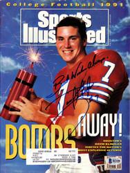 David Klingler Autographed Sports Illustrated Magazine Houston Cougars Beckett BAS #B63688