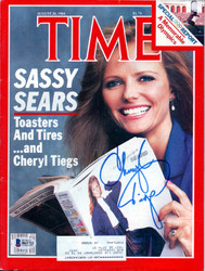 Cheryl Tiegs Autographed Time Magazine Beckett BAS #B63722