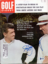 Don January Autographed Golf Digest Magazine Beckett BAS #B61145