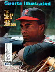 Alex Johnson Autographed Sports Illustrated Magazine California Angels Beckett BAS #B61147