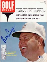 Billy Casper Autographed Golf Digest Magazine Beckett BAS #B61226