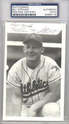 Bill Stewart Autographed 3.5x5.5 Photo Kansas City A's PSA/DNA #83964178