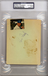 Cap Peterson & Ron Fairly Autographed 4.5x6 Album Page PSA/DNA #83964264