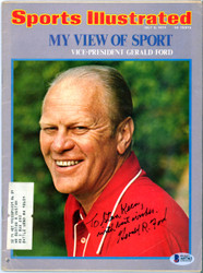 "Gerald Ford Autographed Sports Illustrated Magazine ""To Stan Best Wishes"" Beckett BAS #A07362"