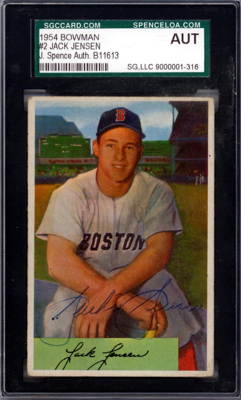 Jackie Jensen Autographed 1954 Bowman Card 2 Boston Red Sox Jsa B11613