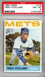 Tracy Stallard 1964 Topps Card #176 New York Mets Graded 8 PSA #27341935