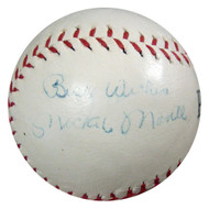 """Mickey Mantle Autographed Park League Baseball New York Yankees """"Best Wishes"""" 1950's Vintage Signature PSA/DNA #Q07806"""