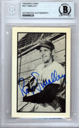 Roy Smalley Autographed 1953 Bowman Reprint Card #56 Chicago Cubs Beckett BAS #9888225