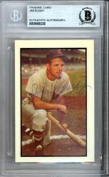 Jim Busby Autographed 1953 Bowman Reprint Card #15 Washington Senators Beckett BAS #9888230