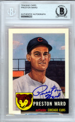 Preston Ward Autographed 1953 Topps Archives Card #173 Chicago Cubs Beckett BAS #9888233