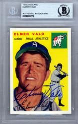 Elmer Valo Autographed 1954 Topps Archives Card #145 Philadelphia A's Beckett BAS #9888279
