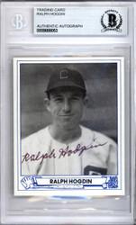 Ralph Hogdin Autographed 1983 1944 Play Ball Reprint Card #17 Chicago White Sox Beckett BAS #9888053