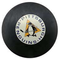 Unsigned Pittsburgh Penguins In Glas Co NHL Puck SKU #123626