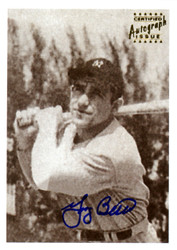 Yogi Berra Autographed 2001 1948 Bowman Reprint Rookie Card #6 New York Yankees SKU #123920