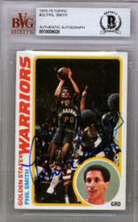 Phil Smith Autographed 1978 Topps Card #33 Golden State Warriors Beckett BAS #10009028