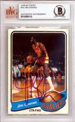 Jim Chones Autographed 1979 Topps Card #19 Cleveland Cavaliers Beckett BAS #10009110