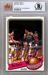 Phil Smith Autographed 1979 Topps Card #53 Golden State Warriors Beckett BAS #10009135
