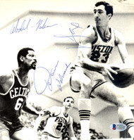 Mahdi Abdul-Rahman, Dave DeBusschere & Jim Fox Autographed 8x8 Magazine Page Photo Beckett BAS #C24145