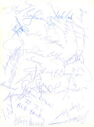 1970's NBA/ABA Greats Autographed 8.5x11 Photo With 24 Total signatures Including John Williamson Beckett BAS #A06359