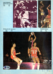 NBA HOFers & Stars Autographed 8x11 Magazine Page Photo With 8 Total Signatures Including John Brisker Beckett BAS #A10008