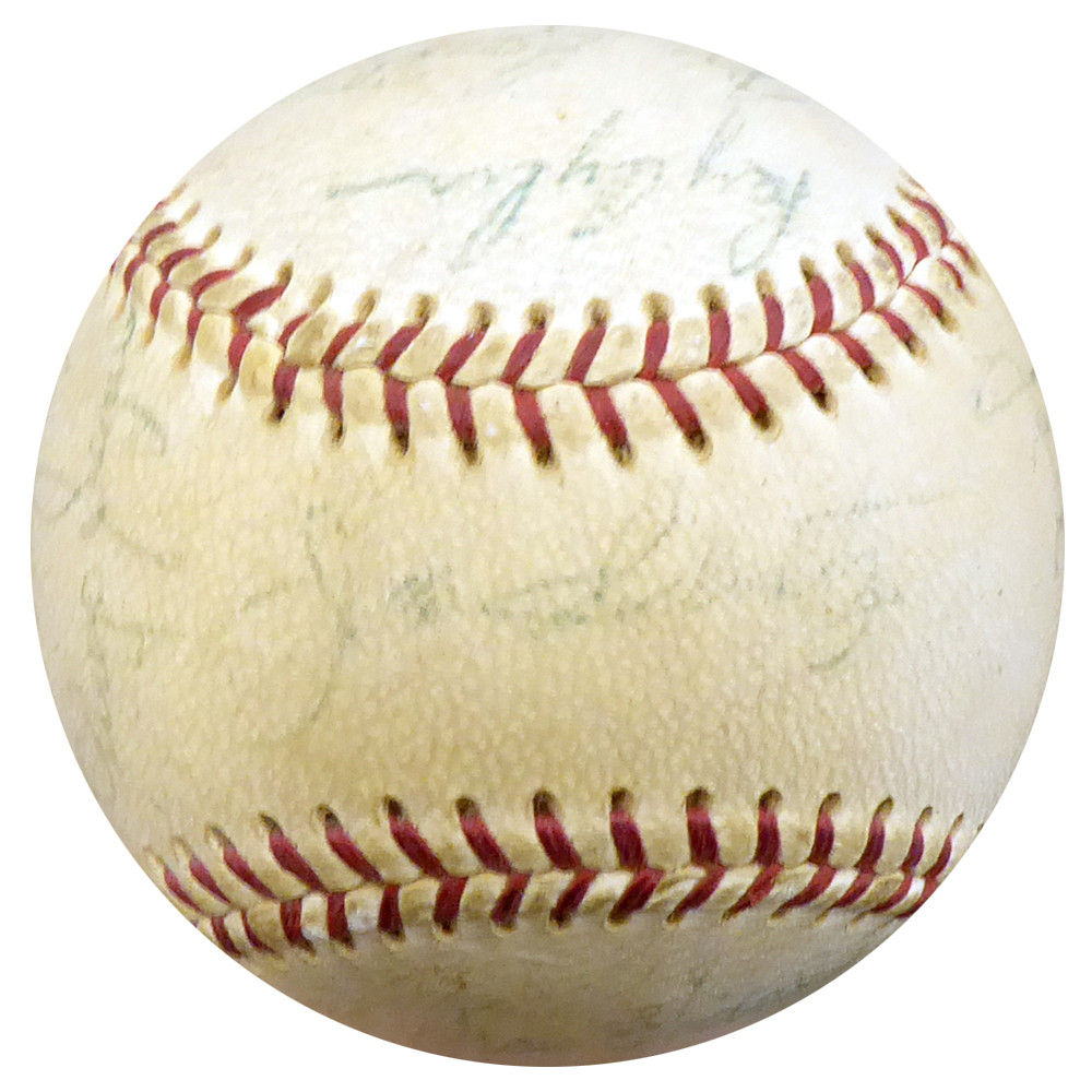 1969 seattle pilots autographed official al baseball with 24 total