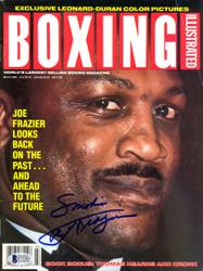 """Smokin"" Joe Frazier Autographed Boxing Illustrated Magazine Beckett BAS #C71357"