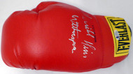 """Terrible"" Tim Witherspoon Autographed Red Everlast Boxing Glove Beckett BAS #C71421"