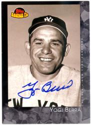 Yogi Berra Autographed 2001 Topps American Pie Card #94 New York Yankees Steiner SKU #126163