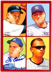 Yogi Berra Autographed 2009 Upper Deck 4 in 1 Goudey Card #35-6 New York Yankees Steiner SKU #126168