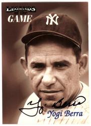 Yogi Berra Autographed 1998 Fleer Legends Of The Game Card #4 New York Yankees Steiner SKU #126218