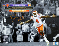 Deshaun Watson Autographed 16x20 Photo Clemson Tigers Beckett BAS Stock #126464