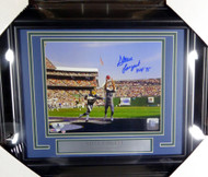 "Steve Largent Autographed Framed 8x10 Photo Seattle Seahawks ""HOF 95"" Beckett BAS Stock #126534"