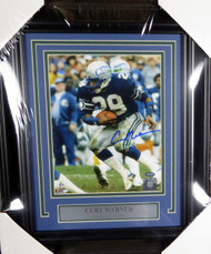 Curt Warner Autographed Framed 8x10 Photo Seattle Seahawks MCS Holo Stock #126588