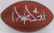 Dak Prescott Autographed Official NFL Leather Football Dallas Cowboys Beckett BAS Stock #126603