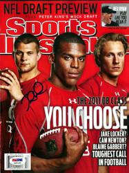 Jake Locker Autographed Sports Illustrated Magazine Washington Huskies PSA/DNA RookieGraph Stock #16386