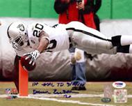 "Darren McFadden Autographed 8x10 Photo Oakland Raiders ""1st NFL TD 9/14/08"" PSA/DNA Stock #21124"