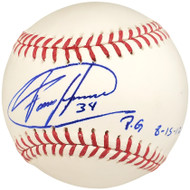 "Felix Hernandez Autographed Official MLB Baseball Seattle Mariners ""PG 8-15-12"" PSA/DNA Stock #28190"