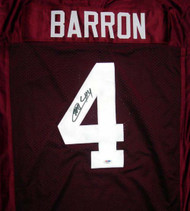 Alabama Crimson Tide Mark Barron Autographed Red Jersey PSA/DNA RookieGraph Stock #29382
