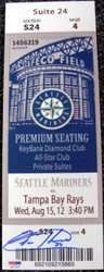 Felix Hernandez Autographed Mini Mega Ticket Seattle Mariners PSA/DNA Stock #33039
