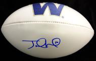 Sale!! Jake Locker Autographed White Logo Football Washington Huskies PSA/DNA Stock #53221