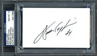 Walter Payton Autographed 3x5 Index Card Chicago Bears Gem 10 Auto PSA/DNA Stock #64591