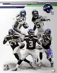 Golden Tate Autographed 16x20 Photo Seattle Seahawks MCS Holo Stock #65562