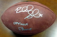 """Richard Sherman Autographed Official NFL Leather Football Seattle Seahawks """"Optimus Prime"""" RS Holo Stock #71420"""
