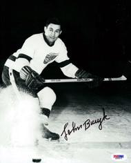 John Bucyk Autographed 8x10 Photo Boston Bruins PSA/DNA #L65571